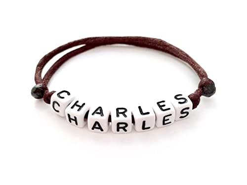 Bracelet A Personnaliser Avec Prenom Charles Reversible Personnalisable Homme Femme Enfant Creation Sur Mesure Amazon Fr Handmade