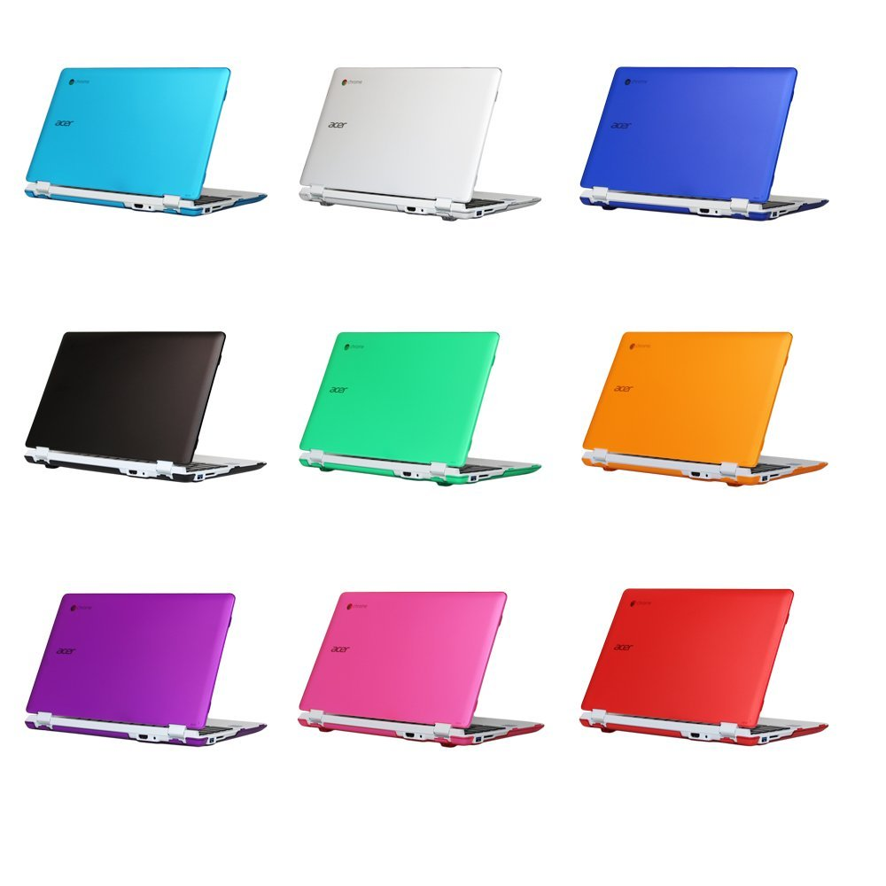 Black mCover Hard Shell Case for New 2016 11.6 Acer Chromebook 11 CB3-131 CB3-132 Series with IPS HD Display Laptop ONLY Model:CB3-131//132