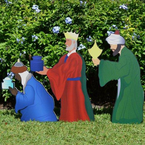 Teak Isle Printed Three Wise Men Nativity