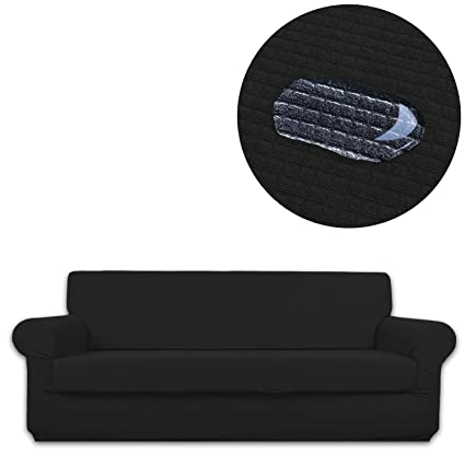 ANJUREN Sofa Couch Slipcover Water Repellent 2 Piece 3 Seater Cushion Sofa Couch Cover Waterproof Replacement Polyester Spandex Stretch Furniture Slip ...