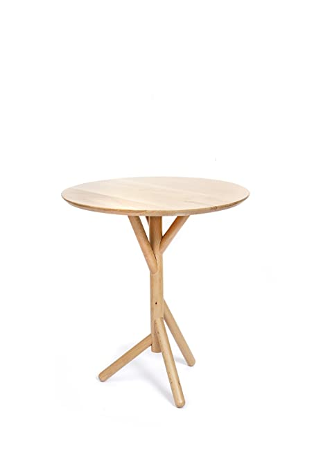 Amazoncom Kikkerland Beechwood Side Table Kitchen Dining - Beachwood dining table