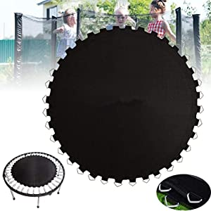 BIN Garden Trampoline Replacement Mat Trampoline Jumping Cloth Fabric PP Net Heavy Duty Round Trampoline Jump Cloth (Springs Not Included)