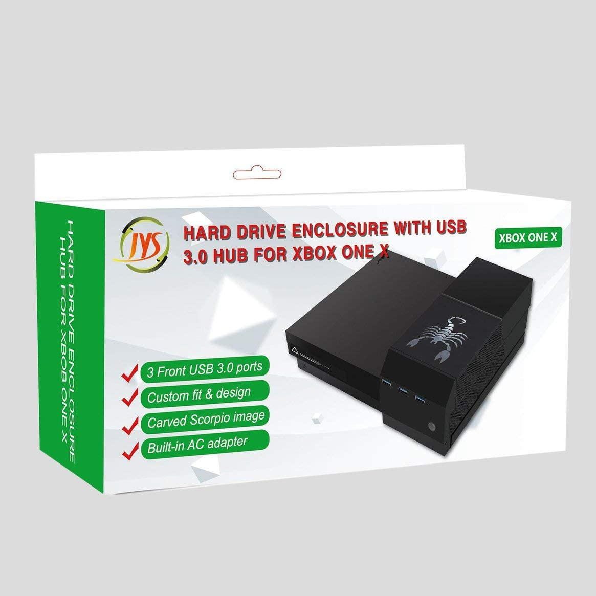 Caja de Disco Duro con concentrador USB 3.0 para Xbox One X ...