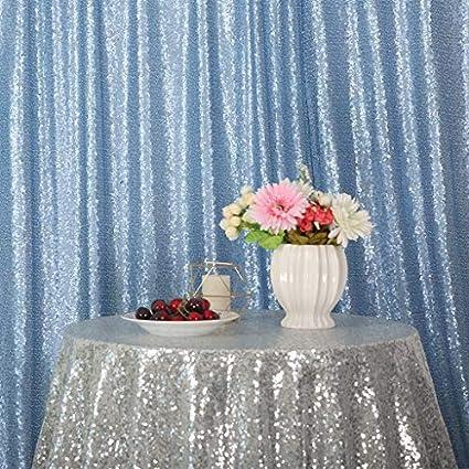 Eternal Beauty Pailletten Hochzeit Hintergrund Fotografie Hintergrund Party Vorhang 4ftx6ft Babyblau Küche Haushalt