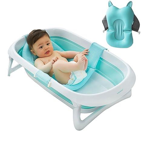 Bañera 3 en 1 para bebé, portátil, plegable con alfombrilla ...