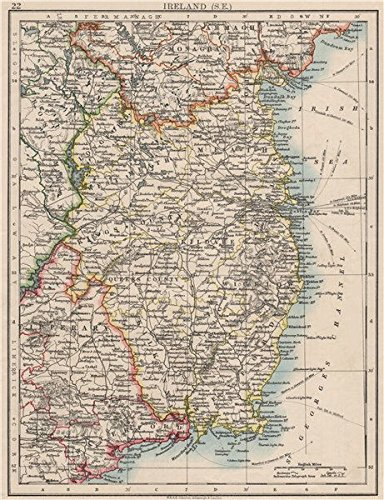 Amazoncom LEINSTER Meath Dublin Longford Wexford Wicklow SE - Old maps of dublin