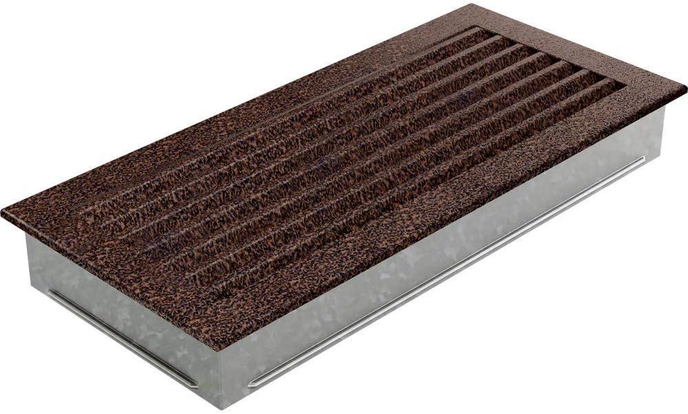 Kratki L/üftungsgitter Kamingitter FRESH 17cm x 17cm graphit