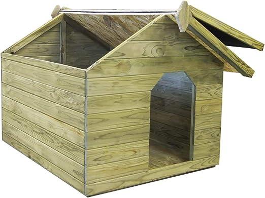 Festnight- Casa de Perros de Jardín 105,5 x 123,5 x 85 cm Verde: Amazon.es: Hogar