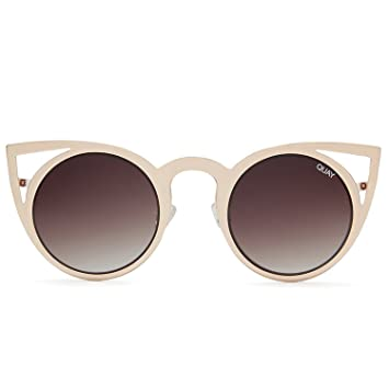 8dbbca9293 Quay Australia signature style INVADER Statement Making Metal Women s Cat  Eye Sunglasses with Non-Polarized