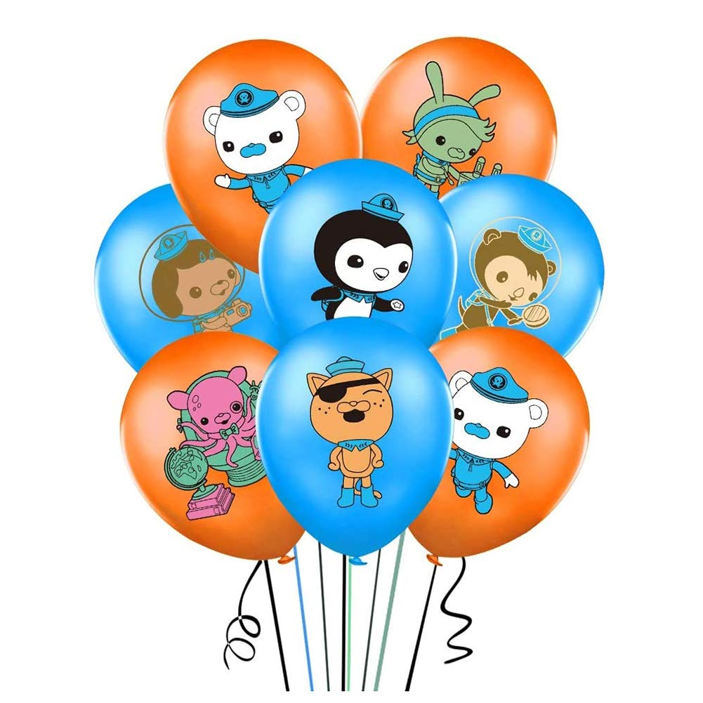 """35PCS Octonauts Balloons Party Supplies 12"""" Latex Balloons for Kids Baby Shower Birthday Party Decorations"""