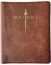 KJVER Sword Study Bible Giant Print Acorn Bonded Leather Indexed: King James Version Easy Read