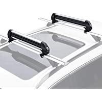 22.83x2.28x4.33 Bonnlo Ski Snowboard Car Racks Fits 4 PCS Skis 2 Snowboards Aviation Aluminum Lockable Ski Roof Carrier Fit Most Vehicles Equipped Cross Bars