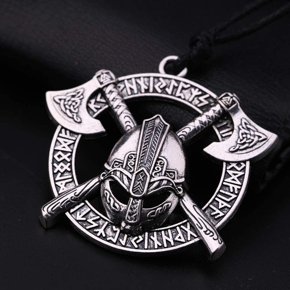 NICEWL Odin Cuervo Amuleto Collar-Irlanda Eslava Mitología Nórdica ...