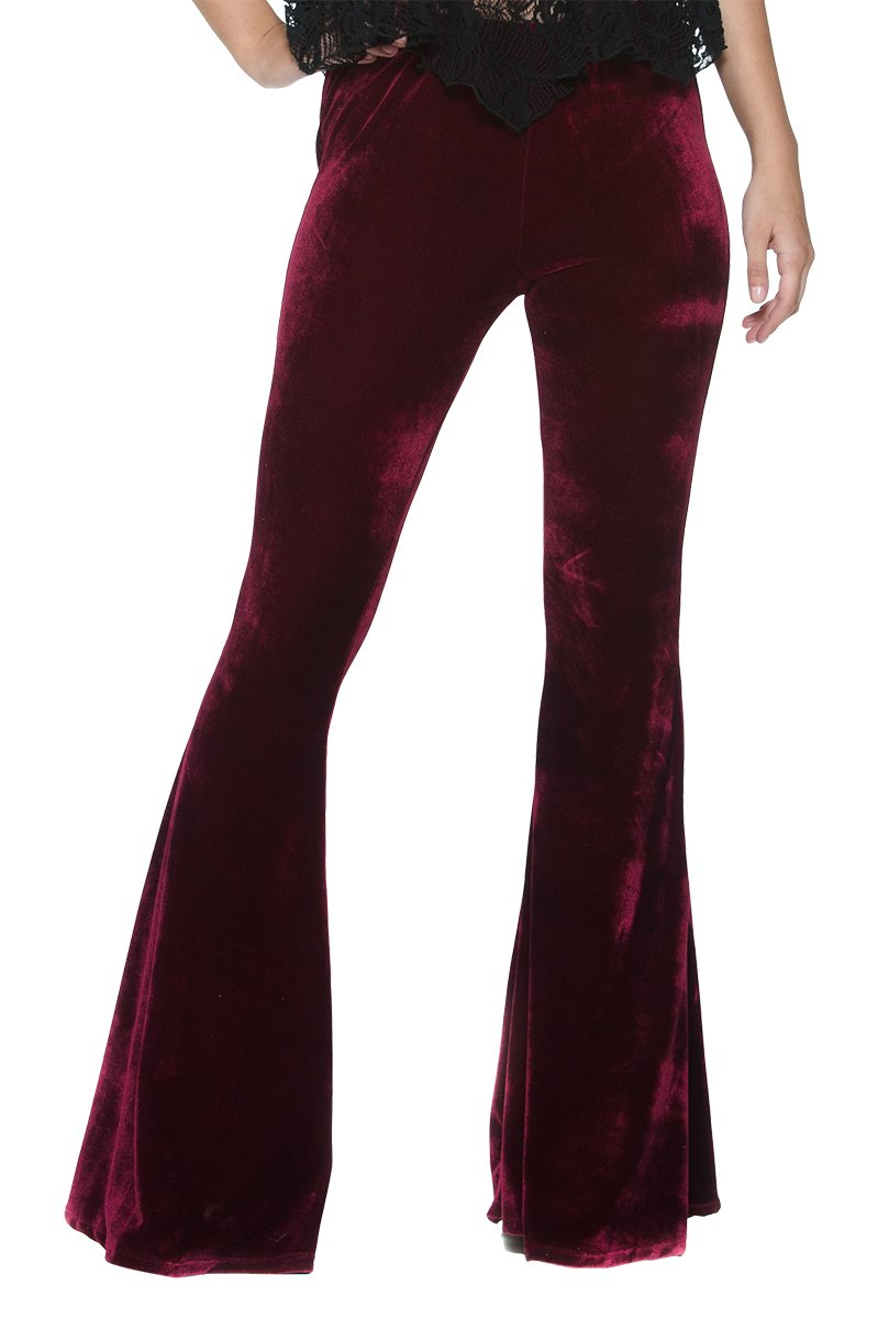 Women's Vintage 70s Glam Rock and Roll Indie Wide Leg Flared Bell Bottom Pants