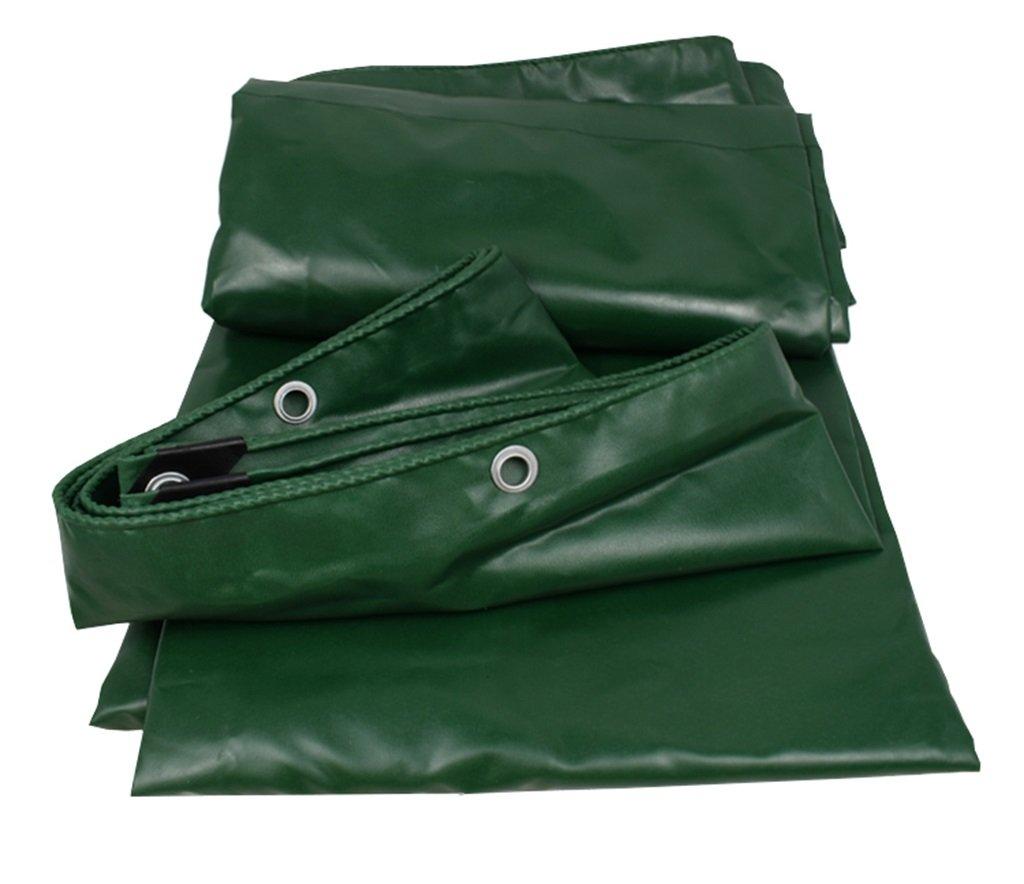 Zelt Zubehör Plane Grünes wasserdichtes Plane-Blatt Tarps im Freien Sonnenblende-Multifunktionsponcho für kampierendes Fischen-im Garten arbeitender Sonnenschutz Einfach zu falten, 520G   m², 13 Größe