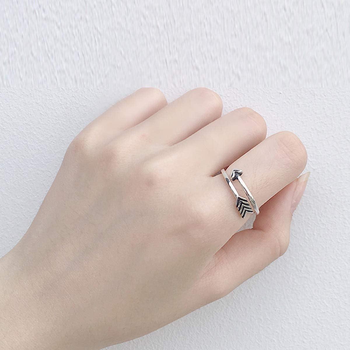 Snorso vintage r/églable Bagues de fl/èche de cupidon pour homme femme en argent sterling ouverte Boho empilable Knuckle doigt Bijoux