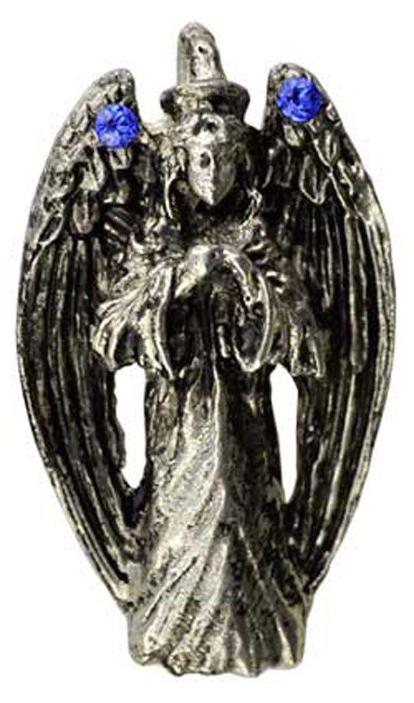 Azure Green Praying Angel Amulet
