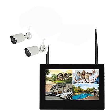 SIPOG Monitor inalámbrico WiFi NVR con Pantalla Cámara de Red de monitoreo Grabadora de Disco Duro