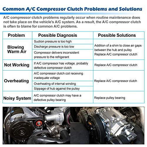 AUTEX AC A/C Compressor Clutch Coil Assembly Kit 92600EA31A Replacement for  Nissan Frontier 2012 2013 2014 2015 & Xterra 2005 2006 2007 2008 2009 2010