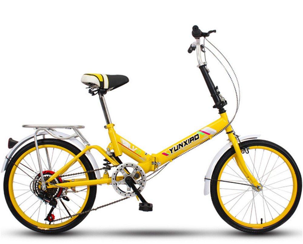 折りたたみ自転車 折り畳み 16インチ 20インチ 変速自転車 単速  変速 通勤 通学 小型 小径 簡単収納 B07BTW3B96O 20インチ変速