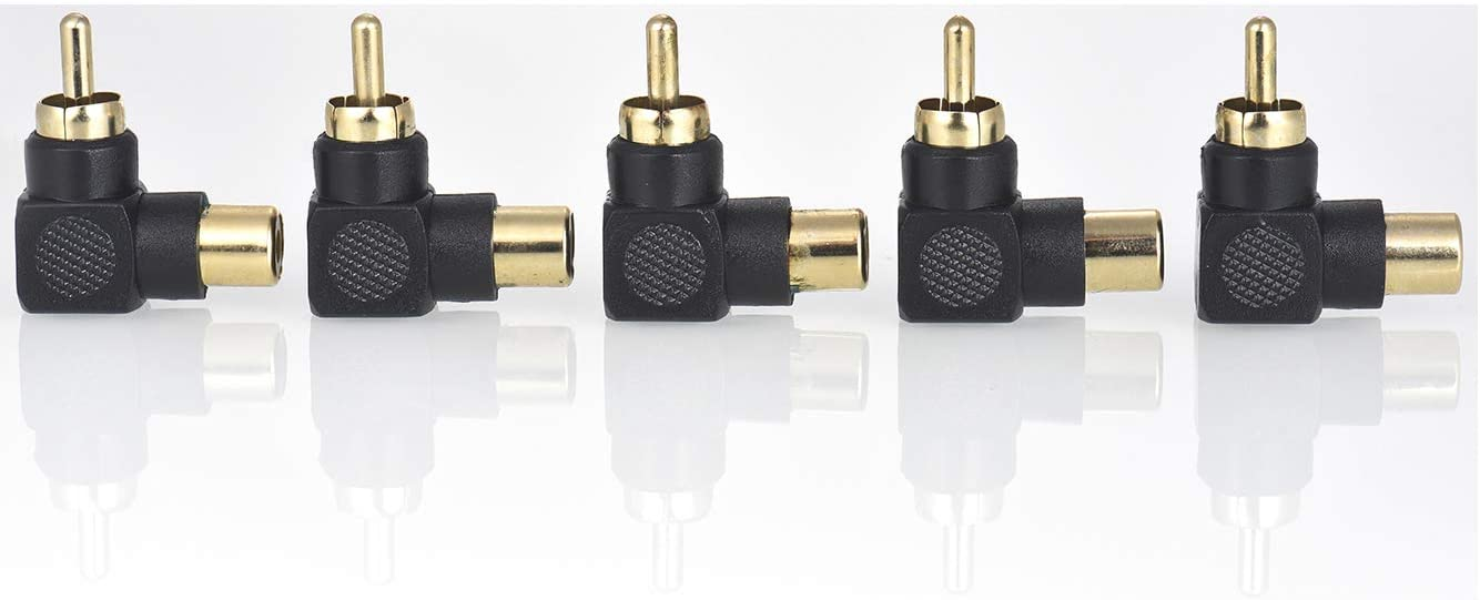 Warmstor 10 Pack Audio Video RCA Female to Female Adapter Coupler RCA Cable Connector Gold Plated