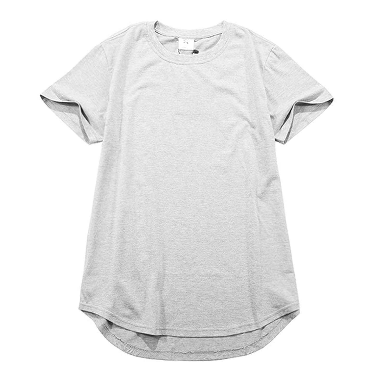 SNAP&STRAP Men's Solid Extended Elongated Plain T Shirt