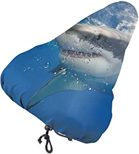 Great White Shark in Mexico Waterproof Bike Bicycle Seat Cover Dust Resistant Cover Protective Bicycle Saddle Rain Cover