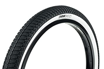 Amazon.com : Kink BMX Vela Wire Bead Tire, White Wall, 20-Inch x ...