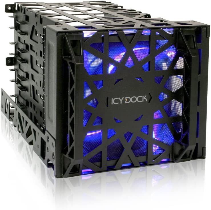 Icy Dock 4-in-1 SATA Hot Swap Backplane RAID Cage Hard Drive Case