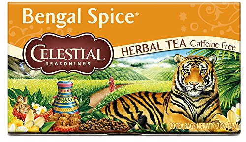 4 Seasoning (Celestial Seasonings Herbal Tea, Bengal Spice, 20 Count (Pack of 6))