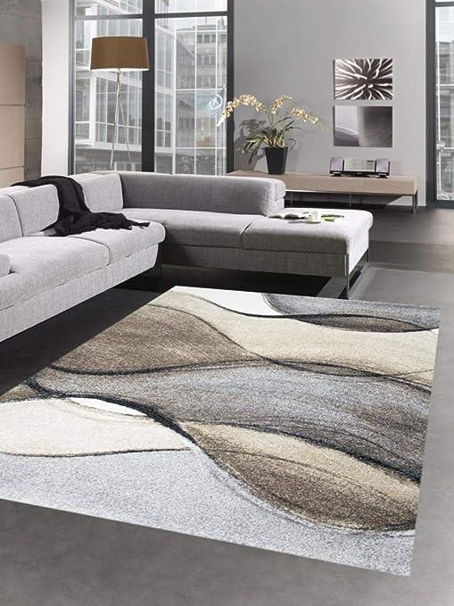 Designer Teppich Moderner Teppich Wohnzimmerteppich Kurzflor Teppich mit ...