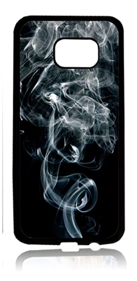 on sale a7882 98b99 Amazon.com: Smoke Flat Print Illusion Design Black Rubber Thin Case ...