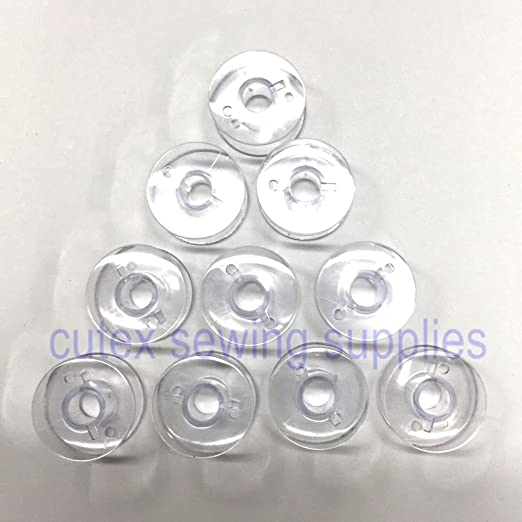 Cutex TM Brand 10 Plastic Bobbins #395710-07 for Babylock, Elna, Kenmore, Viking Sewing Machine