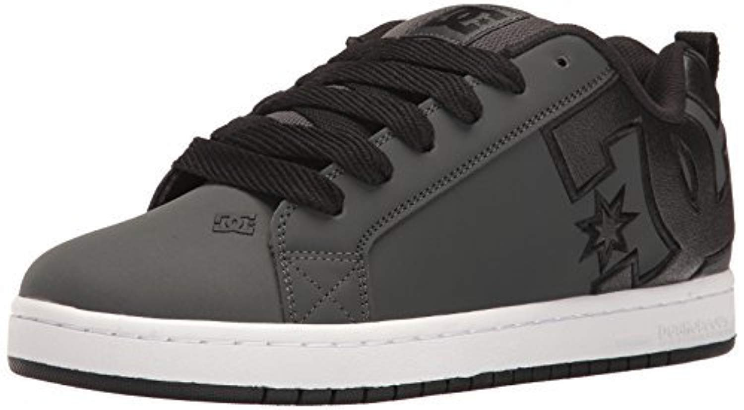 DC Shoes Men's Court Graffik SE Shoes Grey / White 9 by DC