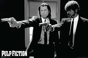 Pyramid America Pulp Fiction Duo Guns Cool Wall Decor Art Print Poster 18x12