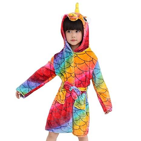 Niños Albornoz con capucha camisón, toalla de baño pijamas Baño robe Cómoda ropa de dormir
