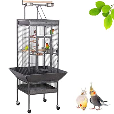 YAHEETECH 61/69 inch Playtop Wrought Iron Large Parrot Bird Cages
