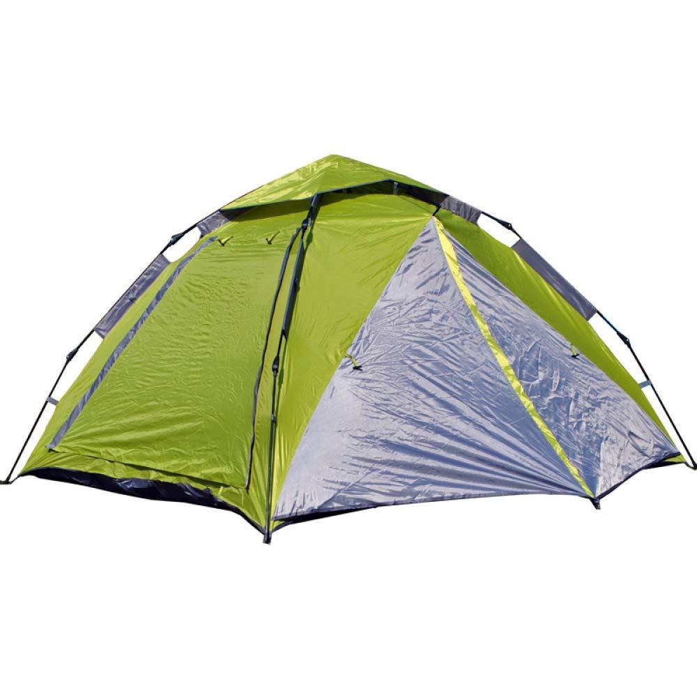 DFGDFG 3-4 Personen Vollautomatisch Faul Camping Geschwindigkeit Offenes Zelt Wasserdicht Und Winddicht UV-Schutz (220  200  145),Grün
