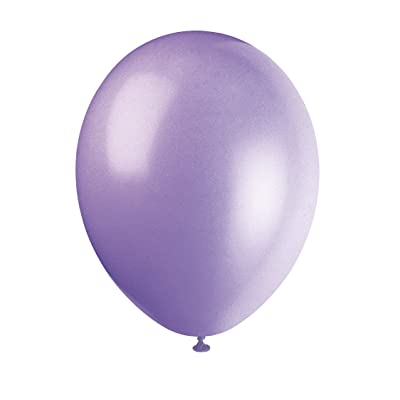 "UNIQUE PARTY 80007 - 12"" Latex Lilac Lavender Balloons, Pack of 10: Toys & Games"