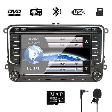 7 Pulgadas para Auto estéreo Doble DIN con DVD/Navegación GPS/RDS/Bluetooth