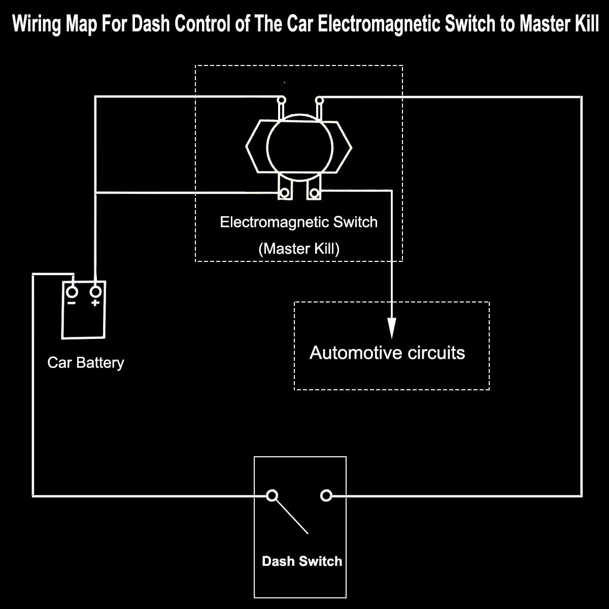 Truck Battery Switch Electromagnetic Disconnector E A Circuit Diagram Of An Electromagnet Kylin Dc 24v Power One Button Control On Dash Master Kill System Full Suite