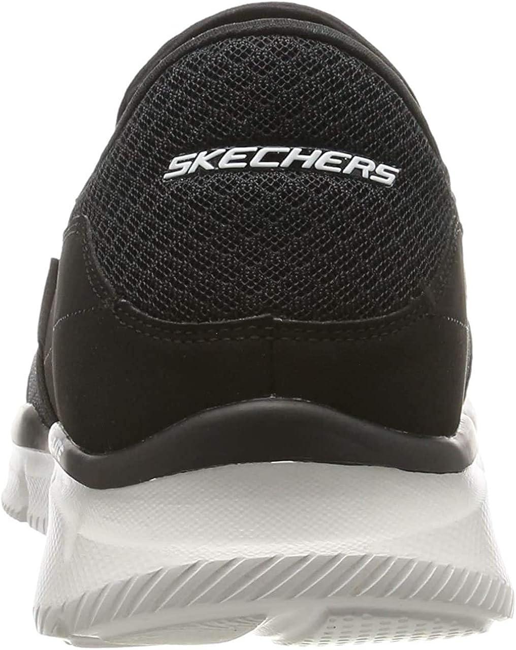 Skechers Herren Ultra Flex-salutations-51361 Low-Top, Parent Schwarz Bkw