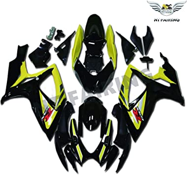 NT FAIRING Glossy White Silver Injection Mold Fairing kits Fit for Suzuki 2007 2008 GSXR 1000 K7 07 08 GSX-R1000 Aftermarket Painted ABS Plastic Motorcycle Bodywork
