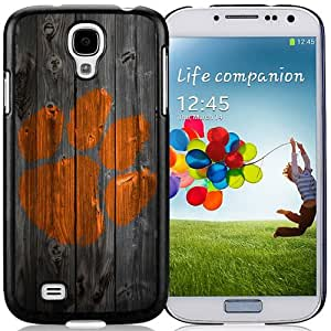 Beautiful And Popular Designed With NCAA Atlantic Coast Conference ACC Footballl Clemson Tigers 7 Protective Cell Phone Hardshell Cover Case For Samsung Galaxy S4 I9500 i337 M919 i545 r970 l720 Phone Case Black