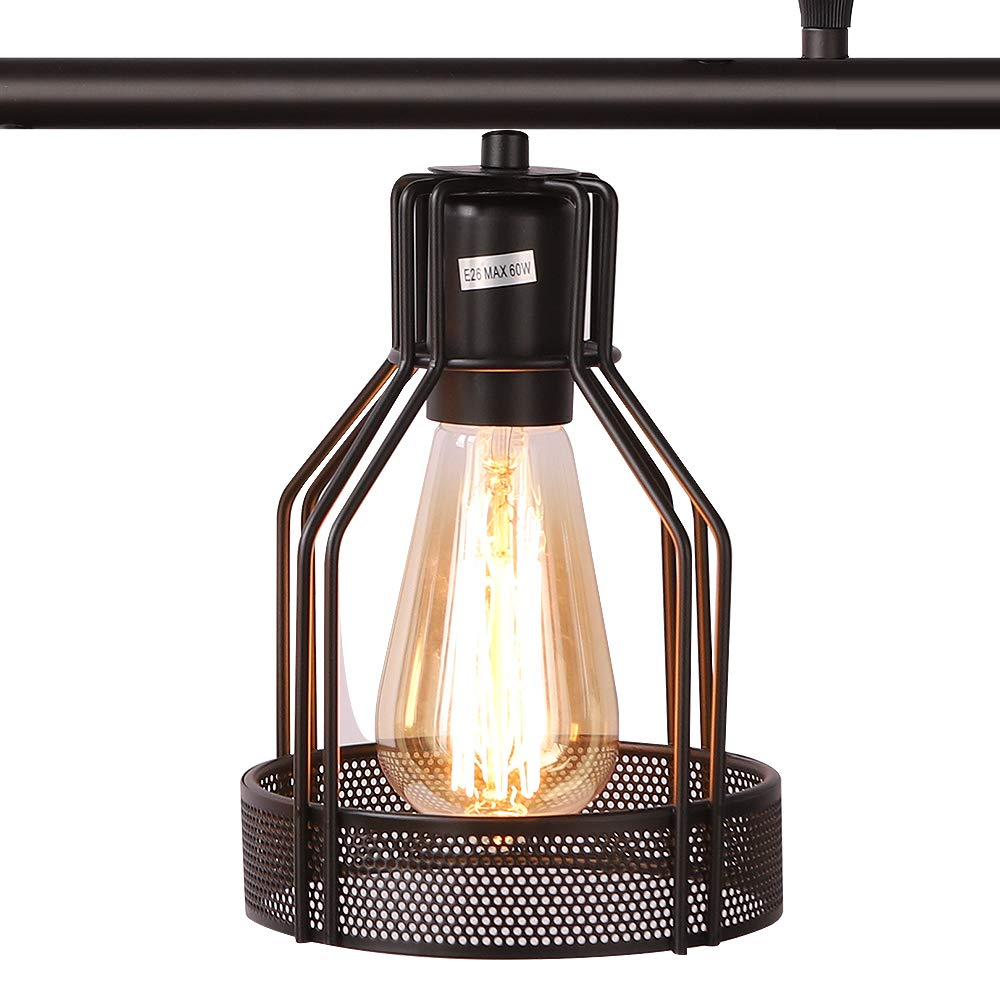 Kitchen Island Lighting 4-Light Pendant Light Fixture with Paint Finish Cage Lampshade Modern Industrial Chandelier by EE Eleven Master (Image #5)