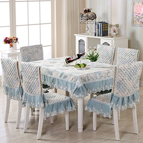 Price comparison product image Tablecloth European-style rectangular coffee table tablecloth Table cloth Tablecloth table cloth-B 130x180cm(51x71inch)