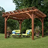 Backyard Discovery Cedar Pergola 12′ x 10′ Assembly Included Review