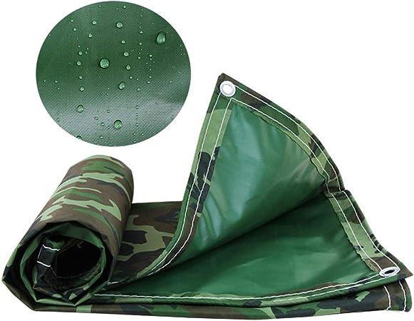 ZAQI Lona de Camuflaje para Sol y Lluvia para Coche/pergola/Camping/Tienda de campaña, Lona Resistente al Agua con Arandelas de 0,5 mm, 500 g: Amazon.es: Hogar