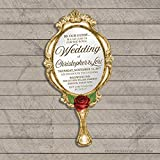 Be Our Guest Mirror Wedding Invitations (Set of 10) Envelopes Included Personalized