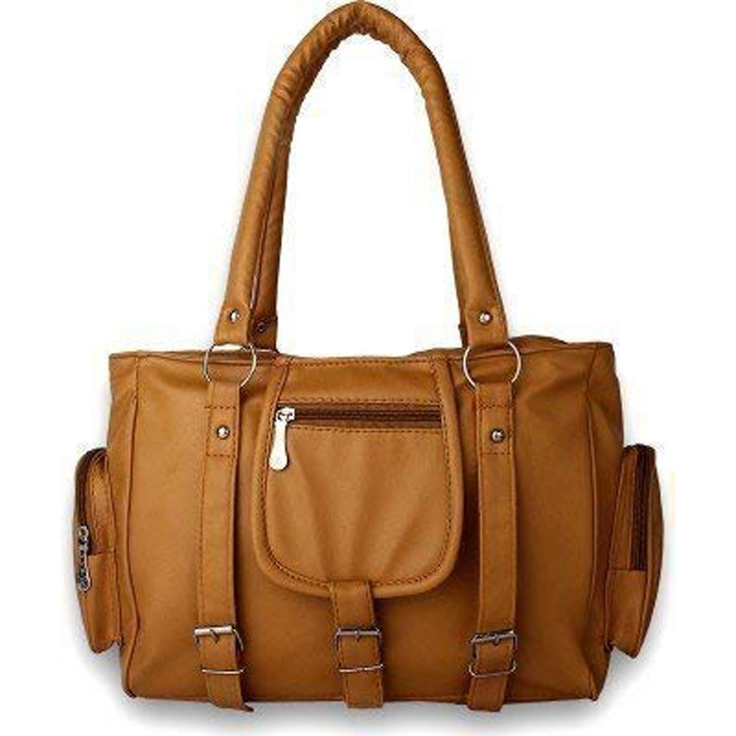 M.S ZONE Women's PU Leather Handbag (CKRK101, Mustard) (Today Offer Deal of the Day)